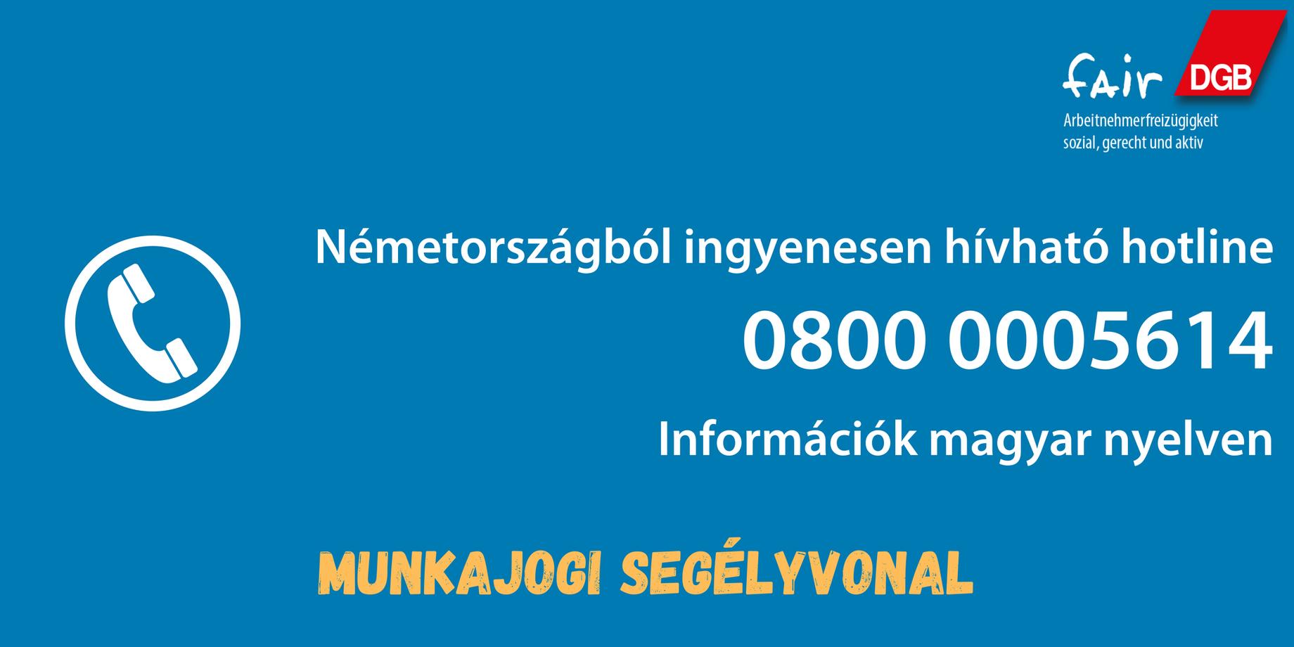Corona Hotline Ungarisch