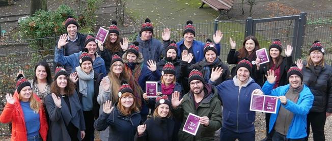 Team Faire Mobilität für Mindestlohn auf dem Weihnachtsmarkt
