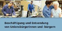"""Titelblatt des Heftes """"Beschäftigung von Unionsbürgern"""""""