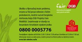 Hotline Landwirtschaft BKS