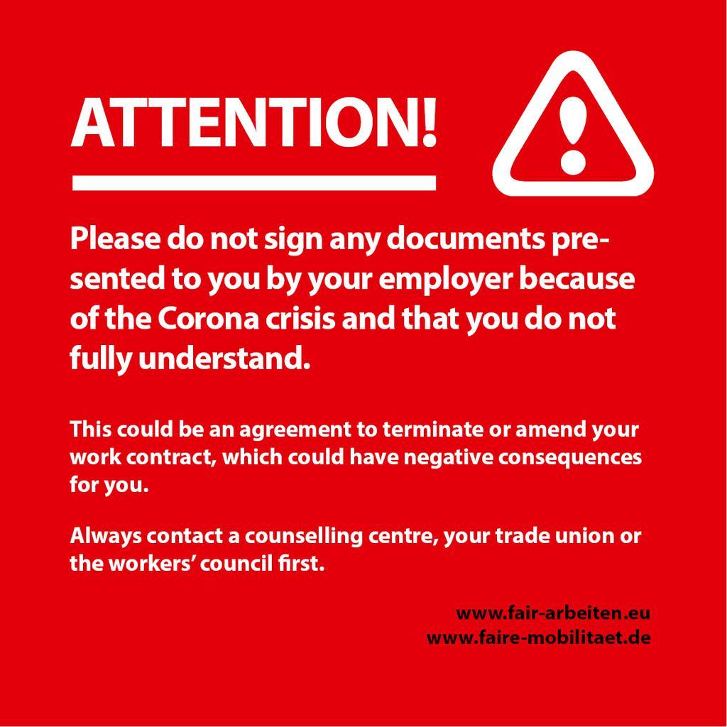 Corona and Labour Law FAQ