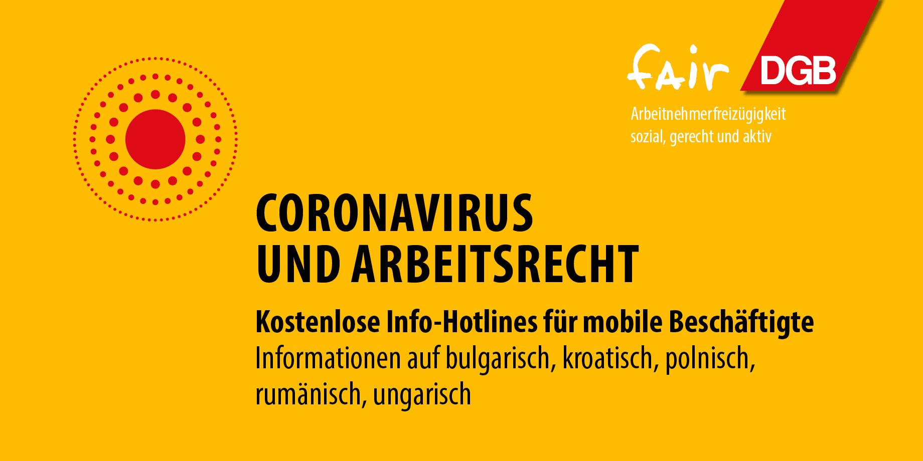 Hotline Corona und Arbeitsrecht