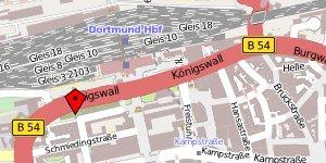 Kartenansicht: Königswall 36, 44137 Dortmund