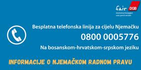 Hotline Coronavirus Arbeitsrecht Bosnisch Kroatisch Serbisch