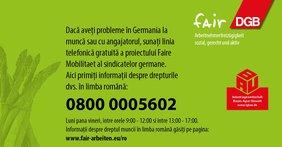 Hotline Landwirtschaft Rumänisch