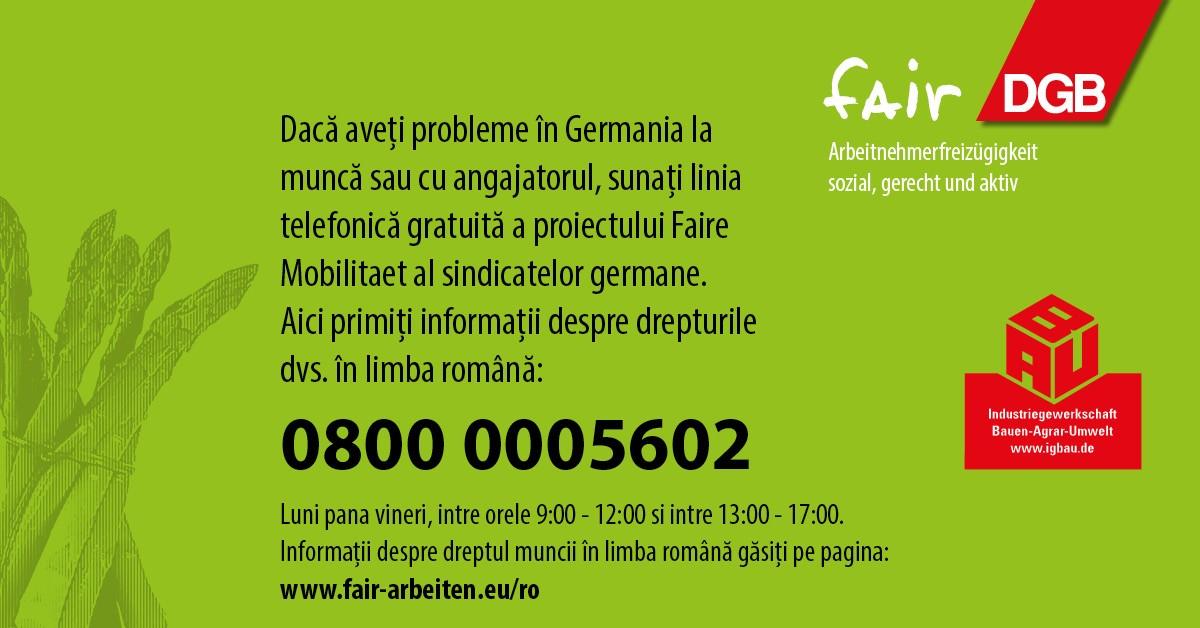 Hotline Rumänisch Landwirtschaft