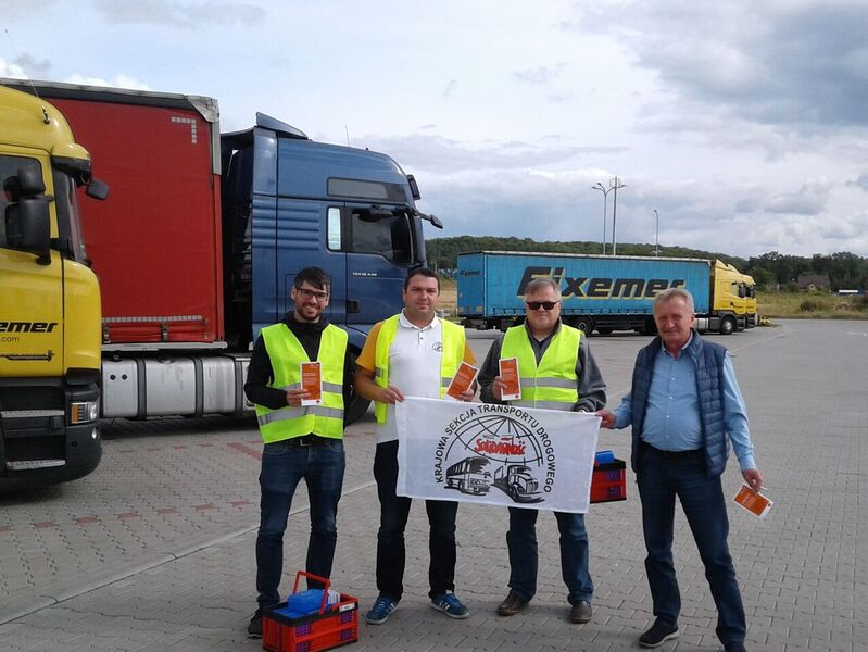 EU-Projekt TransFaire: Aktion mit Solidarnocs